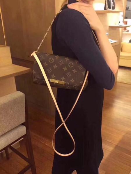 Top Qualität Lieblings Monogramme Umhängetasche Eppritene Handtasche Rucksack Luxusmarke Frauen L Umhängetaschen V Lieblingstasche M40718 28 * 17 * 4 cm