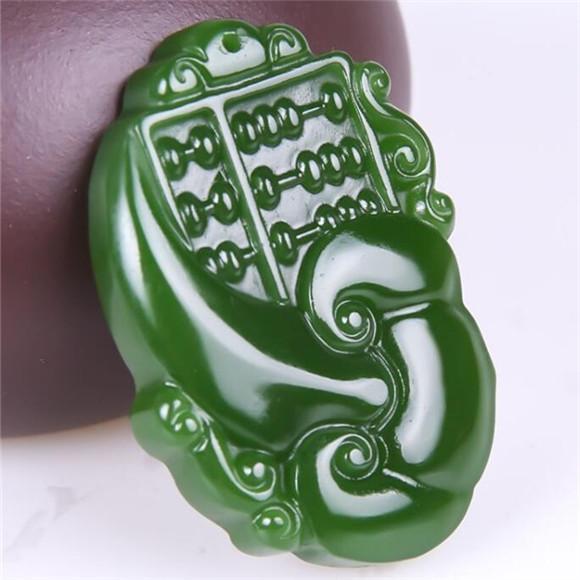 pendentif jade vert // blanc bouddha amulette,avec la chaîne gratuite
