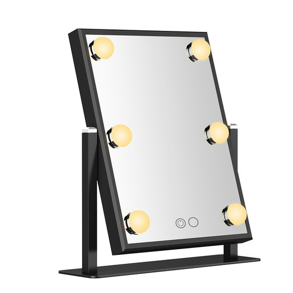 360 degree rotate warm and cool lights mirror adjust brightness beauty salon Vanity dressing cosmetic makeup mirror DHL free shipping