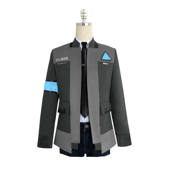 Abrigo, camisa y corbata
