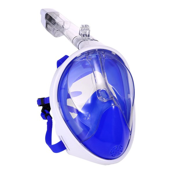 2018 Anti Fog Full Face Diving Mask Underwater Scuba Diving Mask Snorkeling Set 180 Degree View Scuba Snorkel with Camera Mount