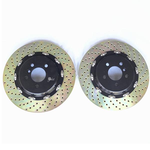 Jekit Front Brake disc Floating bolts alumiinum center bell 380*34mm for Brembo GT6 brake system for infiniti FX35 year 2003 rim wheel R20