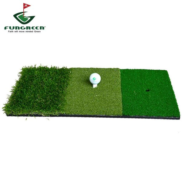 best selling 12''x24''Golf Hitting Mat Indoor Outdoor Backyard Tri-Turf Golf Mat with Tees Hole Practice Golf Protable Training Aids