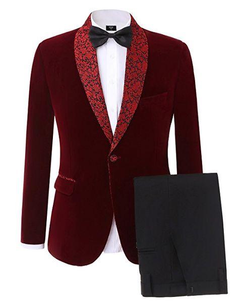 Classic Cool One Button Groomsmen Shawl Lapel Groom Tuxedos Men Suits Wedding/Prom Best Man Blazer ( Jacket+Pants+Tie)