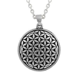 lemegeton Fishhook Vendita all'ingrosso Hotselling Vendita al dettaglio Fiore della vita Mandala Collana gioielli ciondolo Geometria sacra Accessori donna