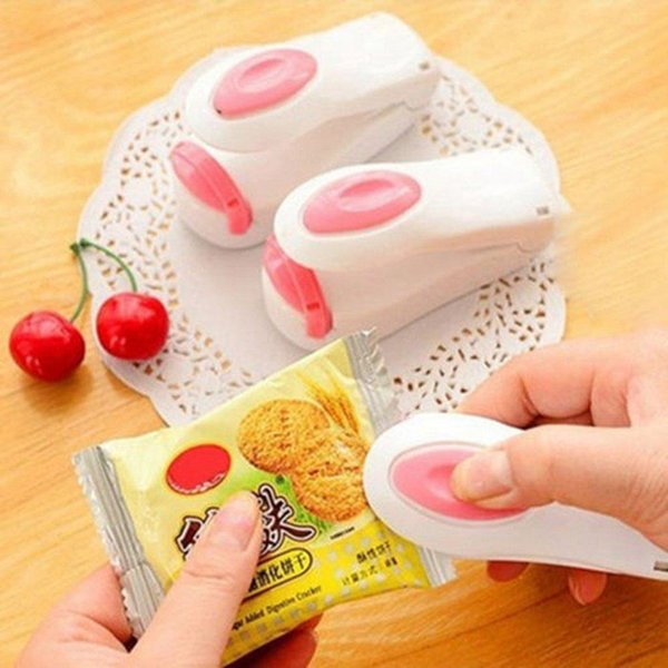 Portable Household Mini Sealing Machine Heat Sealer Capper Food Saver For Plastic Bags Package Mini Gadgets