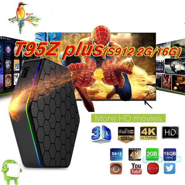 T95Z Plus Android 7.1 TV Box Amlogic S912 Octa-Core 3G 32G Marshmallow Dual Wifi HDMI 4K Media Player Smart Tv Box