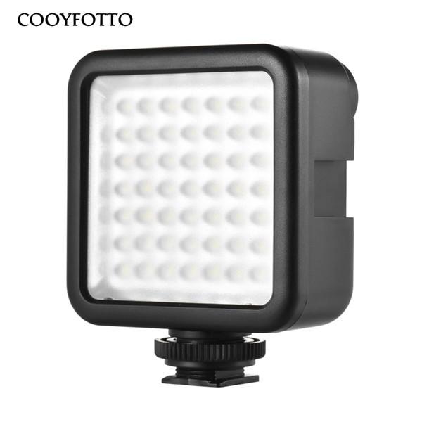 Mini LED Video Işığı ile 3 Sıcak Ayakkabı için Kamera DSLR Kamera Mini DVR için Gece Doldurma Aydınlatma Nikon Canon Sony PK Godox