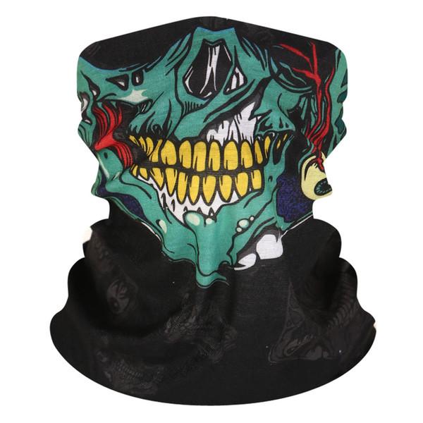 Múltiples funciones sin costuras Mágico Pañuelo Máscara de montar Más cálido Máscara de calavera Media cara Deportes Bufanda mágica Mascarilla Fiesta de Halloween gratis DHL H512F