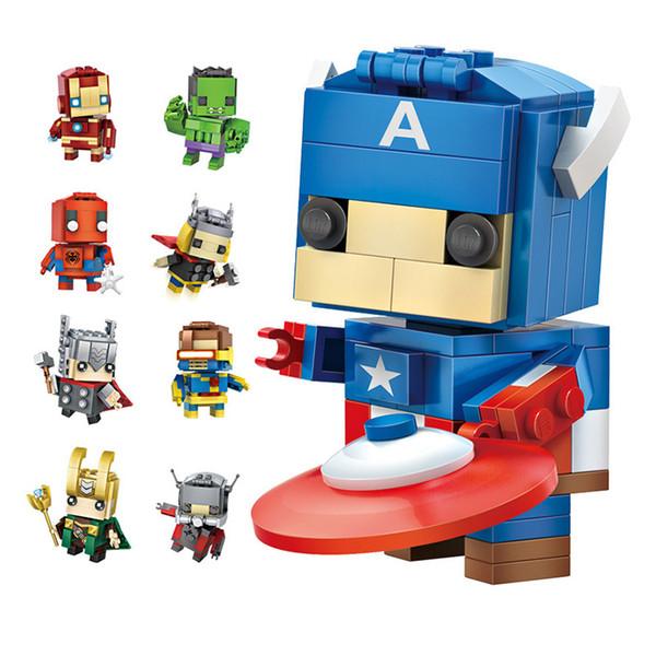 LOZ ELMAS BLOKLARı Oyuncak Süper Kahramanlar Pikachu 7.5 CM Kutusu ebeveyn-çocuk Oyunları Eğitim DIY Assemblage Tuğla Oyuncaklar 3D Bulmaca çocuk oyuncakları