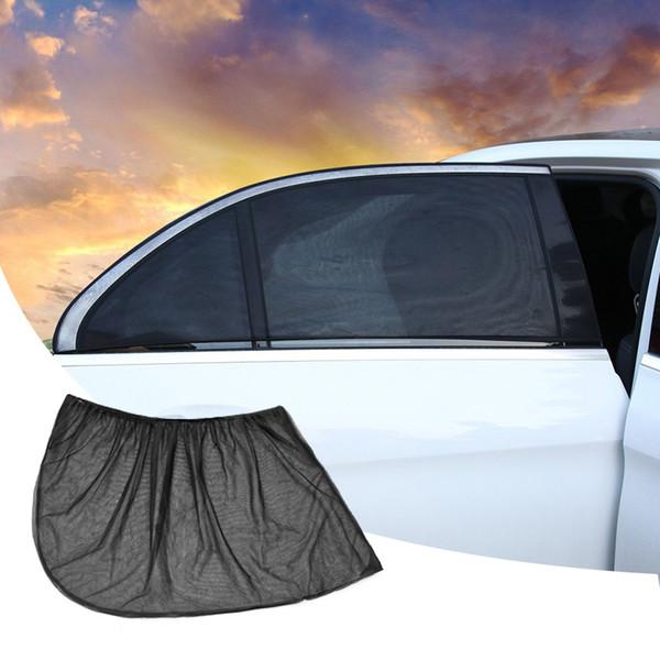 Pellicola protettiva per Windows auto reticolato nero retraibile con isolamento termico laterale finestrino auto Sunblocking 2 PCS / set