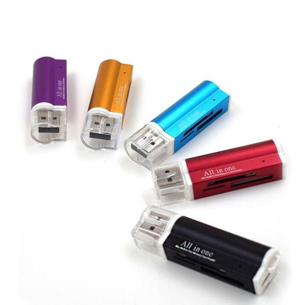 Çok Hepsi 1 Mikro USB 2.0 Hafıza Kartı Okuyucu Adaptörü Micro SD Kart Okuyucu için Sıcak satış 2018-6