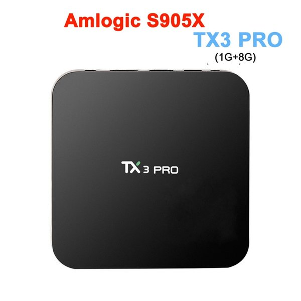 Hot TX3 PRO Smart TV BOX Android 6.0 Amlogic S905X Quad Core Set-top Box RAM 1G 8G Android TV Box HDMI H.265 2.4G WIFI Media Player