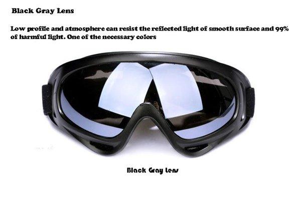 lente gris negro