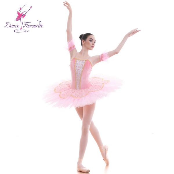 Rosa Velvet Bodice Pre-professionelle Ballett-Tutu-Mädchen-Frauen-Ballett-Ballettröckchen-Ballerina-Tanz-Kostüme
