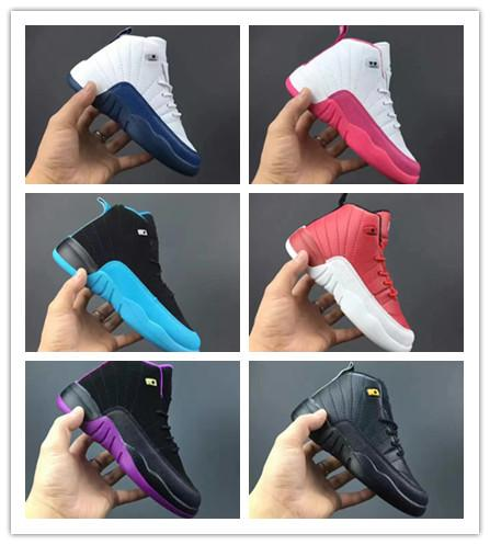 BT 12s French Blue Toddler Kids Basketball Shoes Gamma Blue Gym Red Children's Sneakers Big Boy girl Hyper Violet 12 trainers