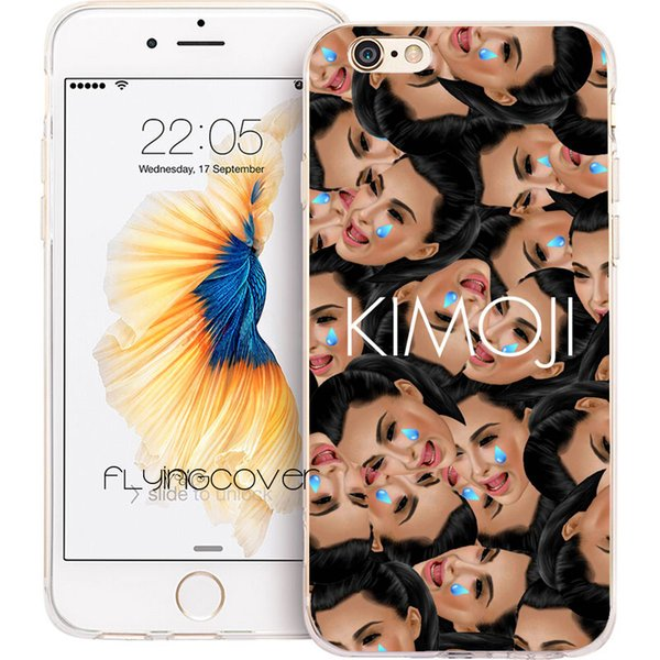 finest selection 57f2c ca3f8 Fundas Kim Kardashian Kimoji Cases For Iphone 10 X 7 8 Plus 5s 5 Se 6 6s  Plus 5c 4s 4 Ipod Touch 6 5 Clear Soft Tpu Silicone Cover. Phone Cover ...