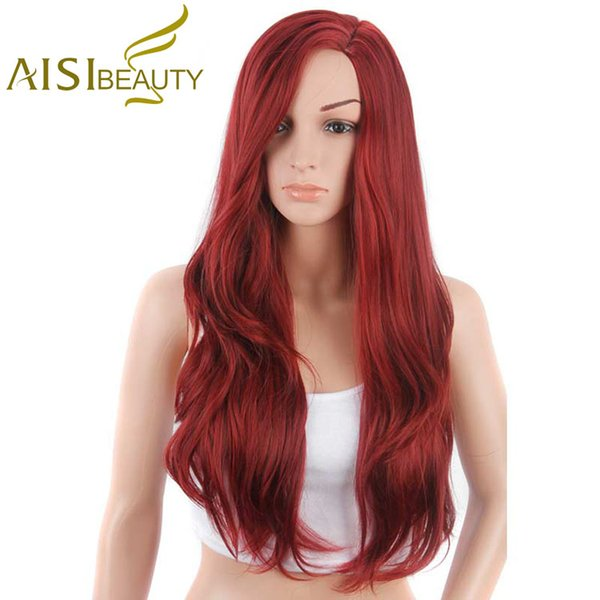 Aisi Beauty The Most Popular Fashion Style Hair Long Silky Wave Wigs For Women Cosplay Synthetic Wig