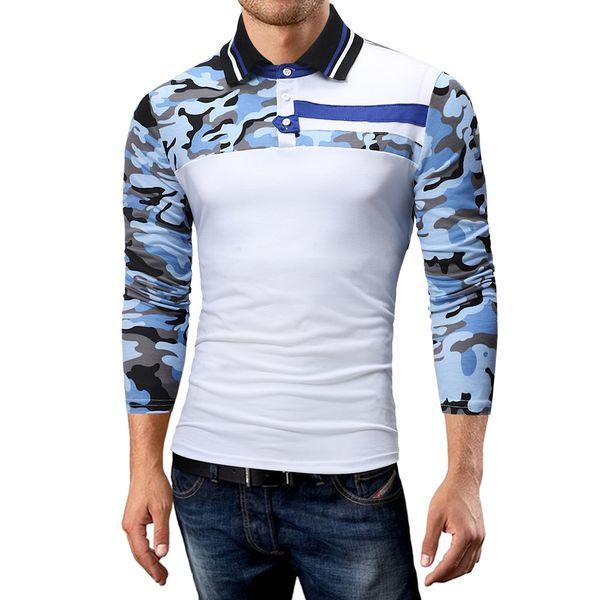 43e634ea0b Camisa Ocasional Homens Patchwork Manga Longa Outono Inverno s Camisas Slim  Fit s Para Hombre