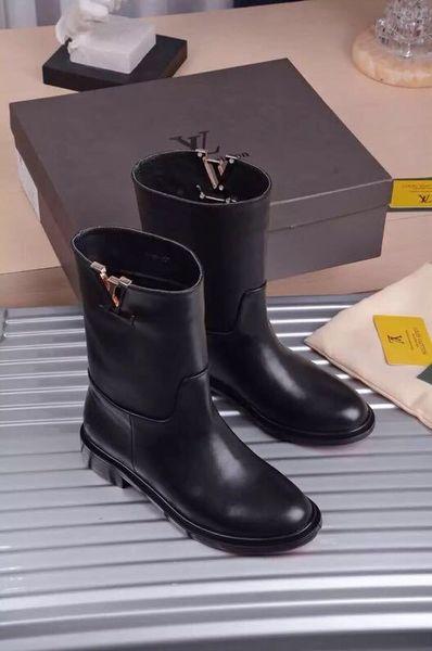 huweifeng4 lettera qualità donne top fibbia in metallo casual stivaletti in vera pelle nero laureate piattaforma stivaletto 35-41 con