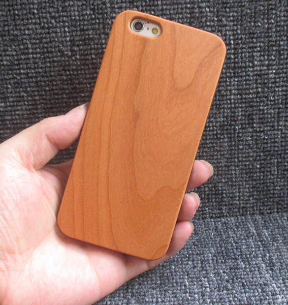 100% Cherry Wood Engraving Phone Cover For Iphone 7 8 6 6s X 10 5 5s Cellphone Mobile Wooden Cover TPU Bumper Cases For Samsung S9 S8 Note 8