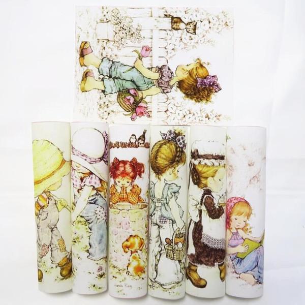 Europa America Bambina in cotone tinto a mano in tessuto per fai da te cucito borsa / stuoia / borsa patchwork quilting 15 * 18 cm Posizionamento del panno