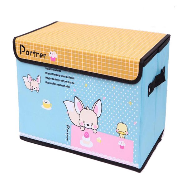 Oxford Clothing Collection Bra Underwear Finishing Box Cartoon Book Boxes Folding Large Storage Box Waterproof Closet Organizer Socks Boxes
