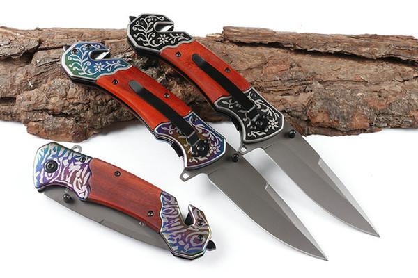 Browning faltendes Messer Holzgriff drei Stil Outdoor camping Taschenmesser Großhandel kostenlose Fracht