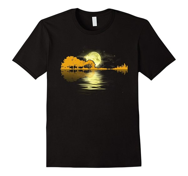 Guitar Lake Shadow Love Guitar T Shirt