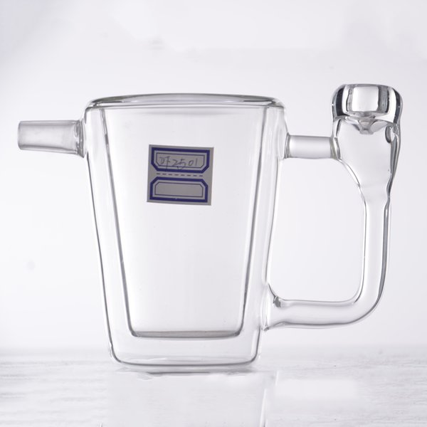 Cheap glass bong free ship Double Tree Perc straight tube Bong sale for cheap Dab 4 inch with glass bowl