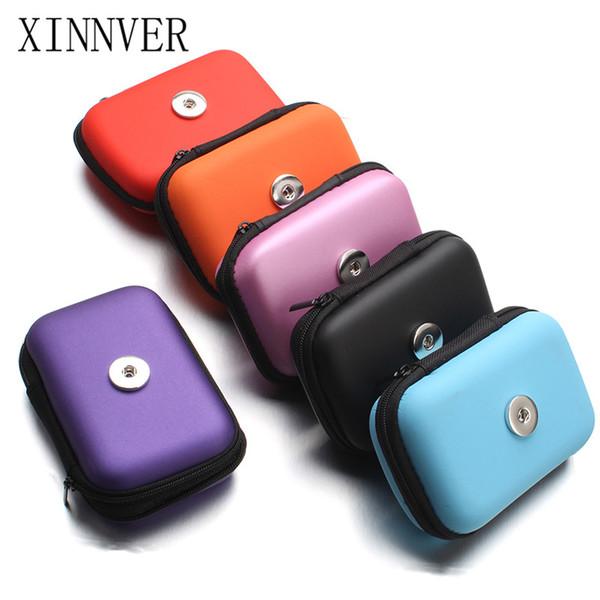 Yeni 18 MM Snap Düğmesi Takı Küçük El Taşıma çantası Coin Çantalar Cüzdan Çanta Kız Kadın Para Çantaları sevgililer Günü Hediyeleri