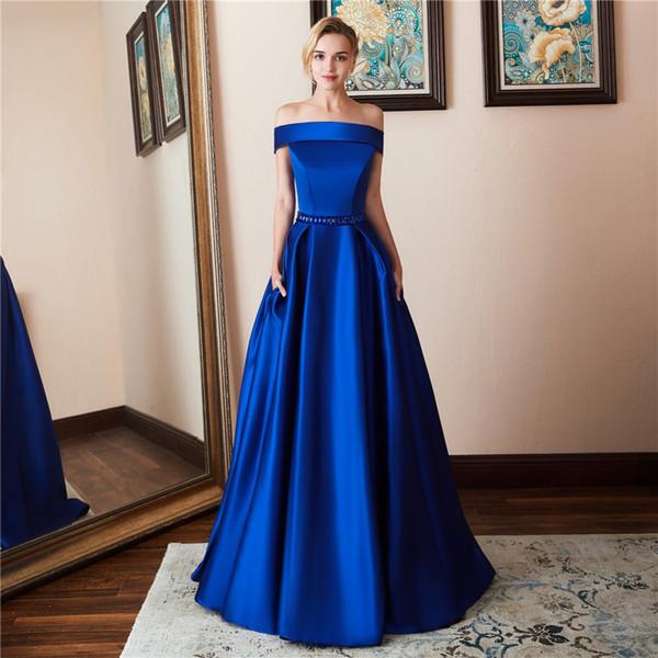 Soirée élégante robes formelles hors épaule robe de bal personnalisée nouvelle taille Plus robes robes pas cher filles Pageant robes