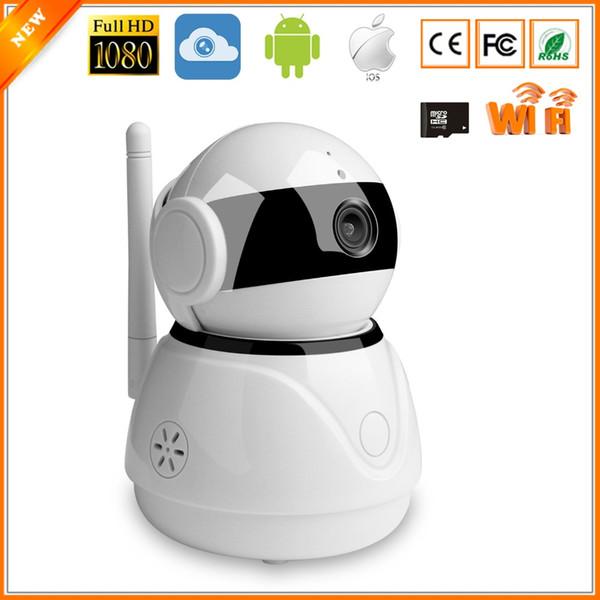 WiFi-Überwachung IP-Kamera Cloud-Speicher HD 1080P Wireless Mobile APP-Steuerung Mini-CCTV-Kamera Zwei Wege-Audio-Bewegungserkennung