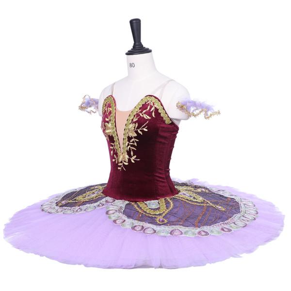 Adult Purple Classical Ballet Tutu Stage Wear Women Ballet Skirt Costumes Girls Ballet Dance Performance Dresses Children Dancewear