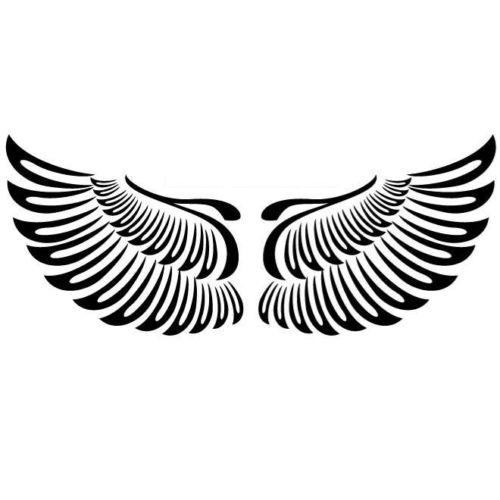 1 pair Angel Open Wings Car Sticker Vinyl Car Packaging Body Decal Flying Decoration