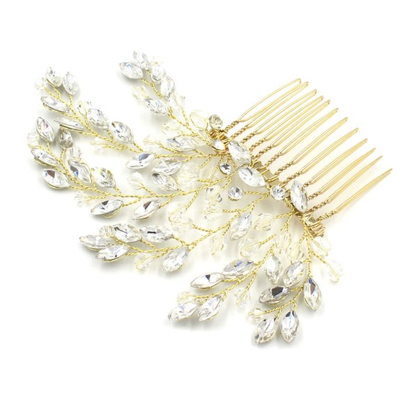 Mystic lunar Combs For Wedding Marquise Crystal Rhinestone Bridal Headpieces Flexible And Bendable Tiaras Handmade Bridal Accessories