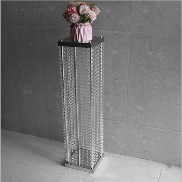 2018 Wedding Props Acrylic Crystal Bead Curtain Road Cited Iron Shelf Flower Guide for Party Table Centerpieces Aisle Decoration