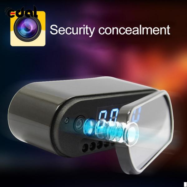 Wholesale-EDAL Fashion Mini Camera Clock Alarm P2P Livecam IR Night Vision Wifi Cam IP 1080 Mini DV DVR Camcorder Wifi Remote Control
