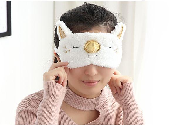 Máscara de viagem de viagem unicórnio brinquedo blindfold personalizar presente Bonito Dos Desenhos Animados Sombra Macia Capa para a Menina Criança Adolescente Viajando Sono Olho Eyeshade