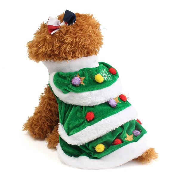 Pet Dog Christmas Tree Dress Clothes Pet Warm Winter Clothing Puppy Large Dogs Cat Christmas Apparel Coat jacket Wear 20pcs/lot