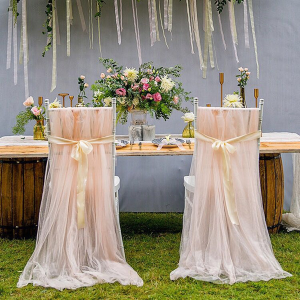 Swell 2019 2018 New Arrived Elegant Mesh Chair Sash For Weddings Tulle Simple Chair Covers For Wedding Decorations From Dreamwedding2018 24 33 Andrewgaddart Wooden Chair Designs For Living Room Andrewgaddartcom
