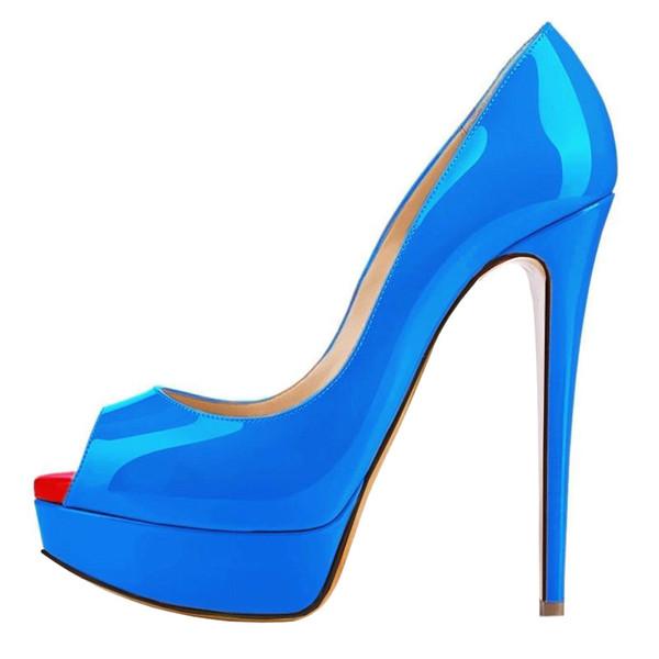 nude green blue purple fashion nude color platform peep toe fish mouth women bride wedding party club sexy high heel shoes 471