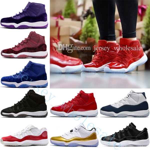 2018 11 men basketball shoes high midnight navy gym red low bred barons university blue varsity red closing ceremony concord sneakers sports