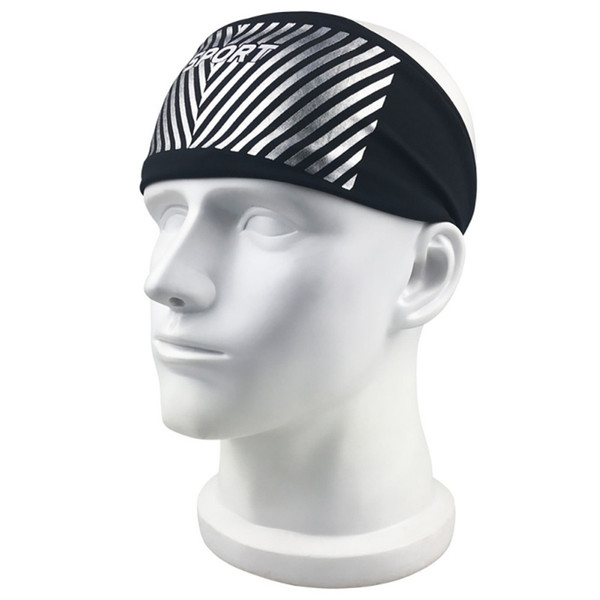 Wide Sport turban headband Sweatband Stretch Elastic Yoga Running Headwrap Hair Accessories For Women Antiperspirant tape New