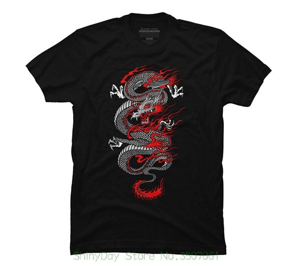 Printed Summer Style Tees Male Harajuku Top Fitness Brand Clothing Asian Dragon Men's Graphic T Shirt