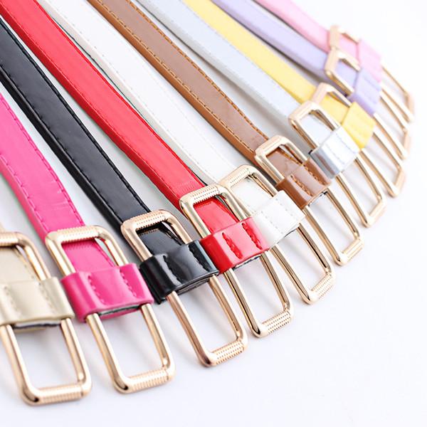 PU-Ledergürtel weibliche Taillengürtel Frauen breite bonbonfarbenen glatte Schnalle Gürtel cinturon mujer cinto feminino cinturones
