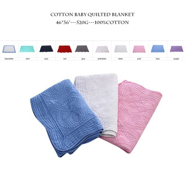 best selling Baby Blankets 100% Cotton Embroidery Blanket Ruffle Baby Quilt Infant Swaddling Summer Home supplies Free Shipping 23 Designs 60pcs YW448