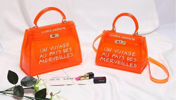 Fashion Women Brand Design Small Square Shoulder Bag Clear Transparent PVC Composite Messenger Bags New Female Handbags
