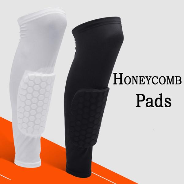 Sports Knee Support Sleeve Basketball Brace Leg Pads Protector Calf Honeycomb