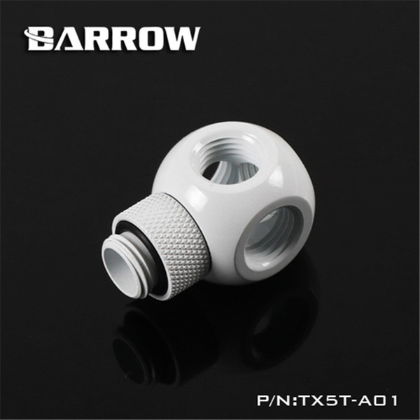 Barrow G1/4 360 degree Rotary Fitting Rotary Metalic Cube Tee 5 Way for computer water cooling TX5T-A01